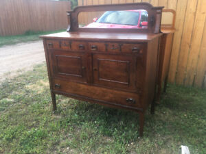 Antique wood storage cabinet from Ireland