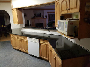 """granite  countertops  edge on two side  slabs  8"""" 6' to 9""""6"""""""
