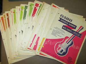 55 PROFESSIONAL TRAINING SERIES GUITAR BOOKS FROM THE 40'S