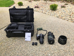 Nikon D500 package with lens and Pelicancase