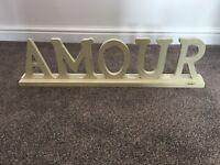Shabby chic word ornament
