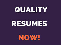 Resumes and Cover Letters: Quick Turnaround