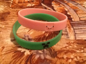 Pig & Creeper Minecraft Bracelets