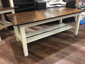 Rustic coffee table and side table set