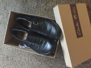 Clarks Soft Black Leather Shoes - Hardly worn— like new!!
