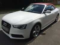 2012 Audi A5 Sline convertible facelift 2.0 tdi White/red px s3 gti golf van
