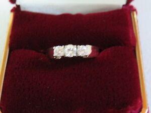 Ladies Gorgeous Diamond Trinity Ring
