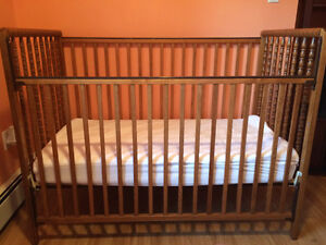 Crib and mattress for sale, excellent condition, seldomly used
