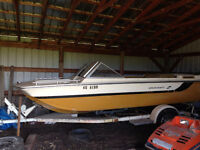 Boat for parts, Trailer good, $1,500 OBO.