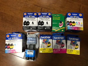Brother LC41 Printer Ink -Black and colour assortment