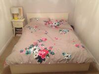 Malm IKEA white double bed