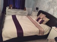 King size leather bed for sale