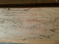 Spalted maple and cherry lumber