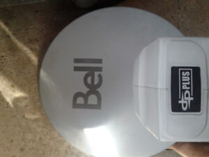 Bell satellite dish and receiver