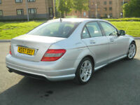 2007 57 Mercedes-Benz C Class 2.1 C220 CDI Sport 4dr WITH FSH+TOP SPEC