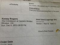 Kenny Rogers Tickets, Windsor, Dec 6