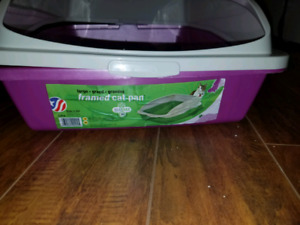 Mint Condition Purple Kitten Litter Pan