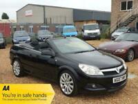 2007 Vauxhall Astra 1.8 i Exclusiv Black Twin Top 2dr Convertible Petrol Manual