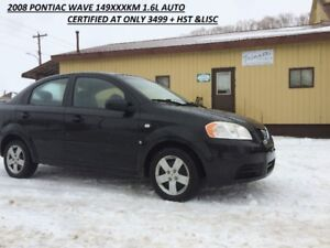 Afforadable 2008 Pontiac Wave only 3499.99 CERTIFIED DONT MISS