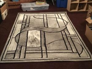 Beautiful Grey Sculptured Area Carpet for Sale