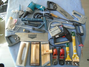 Dry Wall/Carpentry  tools