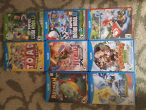 Wii U Games Hyrule warrios, Donkey Kong, Rayman and Captain Toad