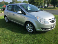 VAUXHALL CORSA 1.4 DESIGN 5 DOOR SILVER FSH FROM £87.50 A MONTH
