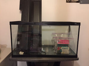 20 gallon fish tank with accessories and stand