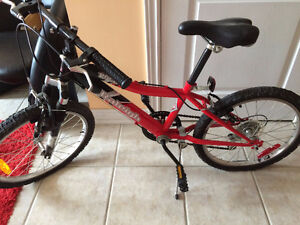 Kids size red Bicycle - Raleigh with training wheel