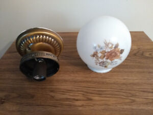 Bathroom / Hall Globe and Light Fixture