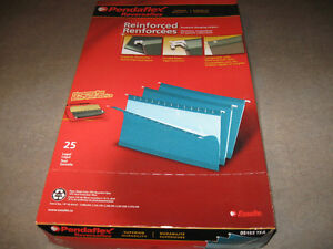 Pendaflex Teal Hanging Folders-Brand New