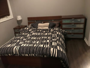 3 piece bedroom set, mattress and couch for sale