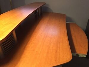 Desk w/ modern metal front (Mint Condition)