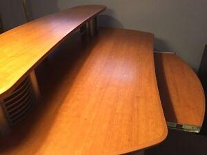 Desk w/ modern metal front (Mint Condition)