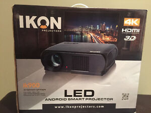 "IKON 900 72"" 4K projector. Brand new!!!"
