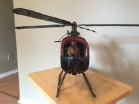 Antique Helicopter replica for man cave or bar.