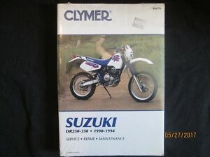 SUZUKI DR250-DR350 1990-=1994 Service Shop Repair Manual
