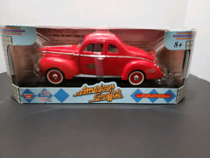 "1940 FORD SEDAN COUP FIRE CHIEF'S CAR"" 1:18.AMERICAN GRAFFITI"