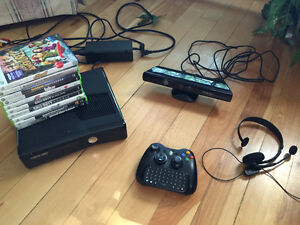 Xbox 360 Slim 250GB with Kinect, 10 games & accessories