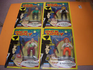 (2) DICK TRACY FIGURES THE TRAMP AND DICK TRACY London Ontario image 1
