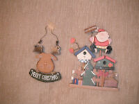 2 Wooden Christmas Decorations