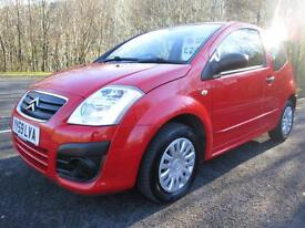 09/59 CITROEN C2 1.4HDI VTR 3DR HATCH IN RED WITH ONLY 83,000 MILES