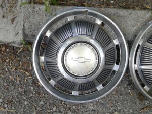 Vintage Chevrolet Hubcaps Hub Caps
