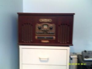 Retro style record player, cd, radio and cassette