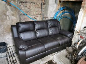 3 seater leather sofa.