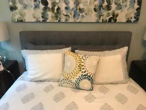 Queen Beautyrest Pillow top Mattress Headboard and Frame