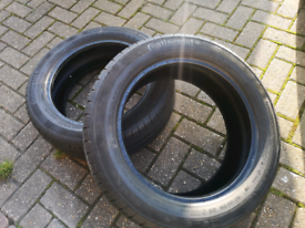 2x 195 55 16 Continental Premium Contact SSR tyres 2019 tyres with 5mm