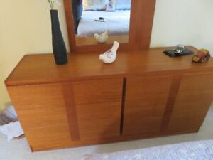 Priced to go: Mid Century  teak Bedroom set