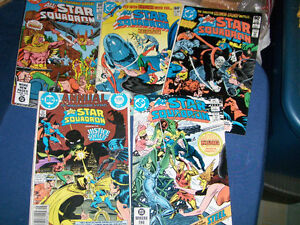 THE ALL STAR SQUADRON-5 RARE BACK ISSUES-1980S-DC COMICS