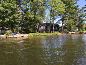 Point Cottage and beach on beautiful Stoney Lake